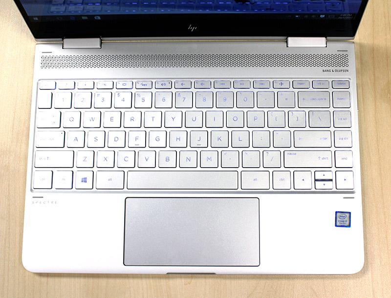 The Spectre x360 has the best keyboard of the bunch.