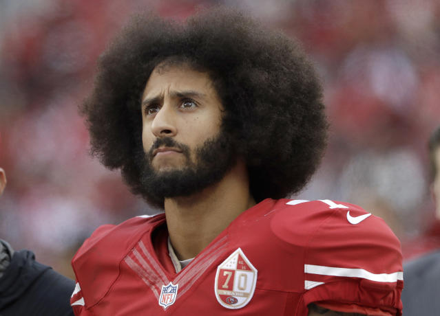 Colin Kaepernick is accusing NFL owners of blackballing him from the league. (AP)