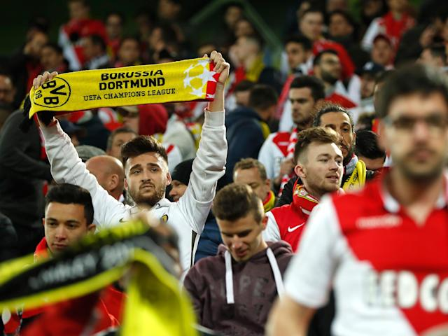Monaco fans sing Dortmund songs after hearing about team bus explosions