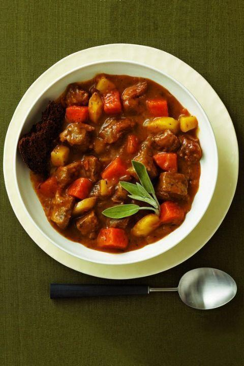 """<p>Is there any dish more perfect for a cold winter day than a stew? This hearty one features pork shoulder with chunks of sweet potato and Granny Smith apples for brightness.</p><p><strong><em><a href=""""https://www.womansday.com/food-recipes/food-drinks/recipes/a10047/pork-cider-stew-121398/"""" rel=""""nofollow noopener"""" target=""""_blank"""" data-ylk=""""slk:Get the Pork and Cider Stew recipe."""" class=""""link rapid-noclick-resp"""">Get the Pork and Cider Stew recipe. </a></em></strong></p>"""