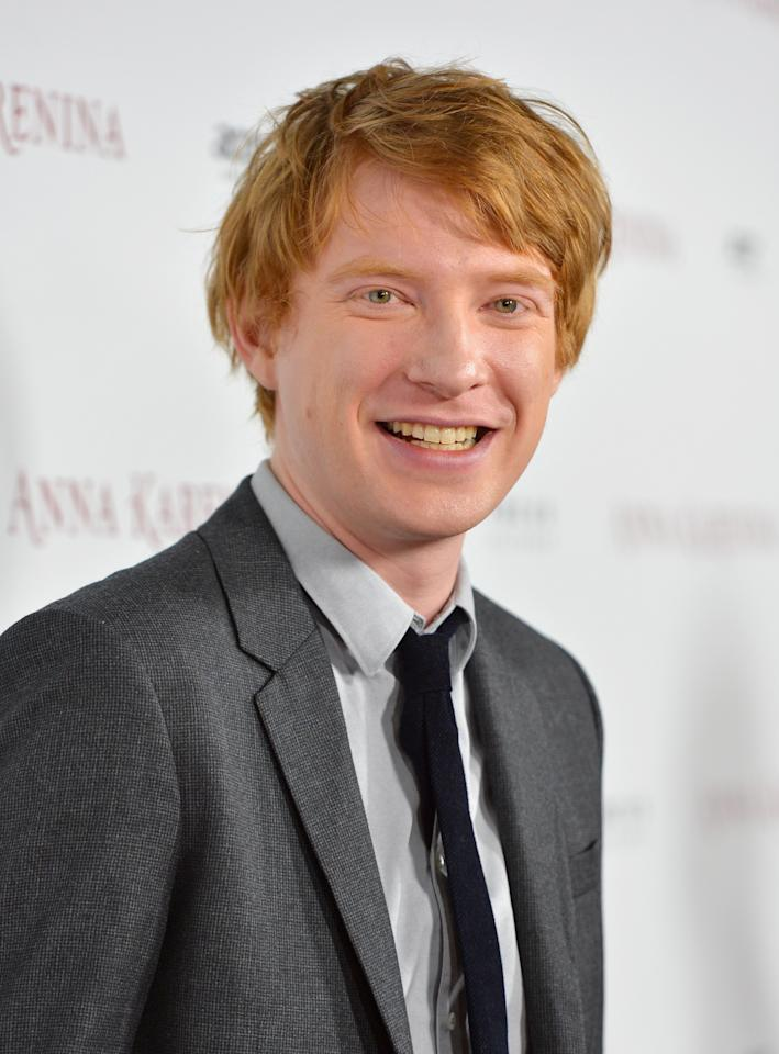 "HOLLYWOOD, CA - NOVEMBER 14:  Actor Domhnall Gleeson attends the premiere of Focus Features' ""Anna Karenina"" held at ArcLight Cinemas on November 14, 2012 in Hollywood, California.  (Photo by Alberto E. Rodriguez/Getty Images)"