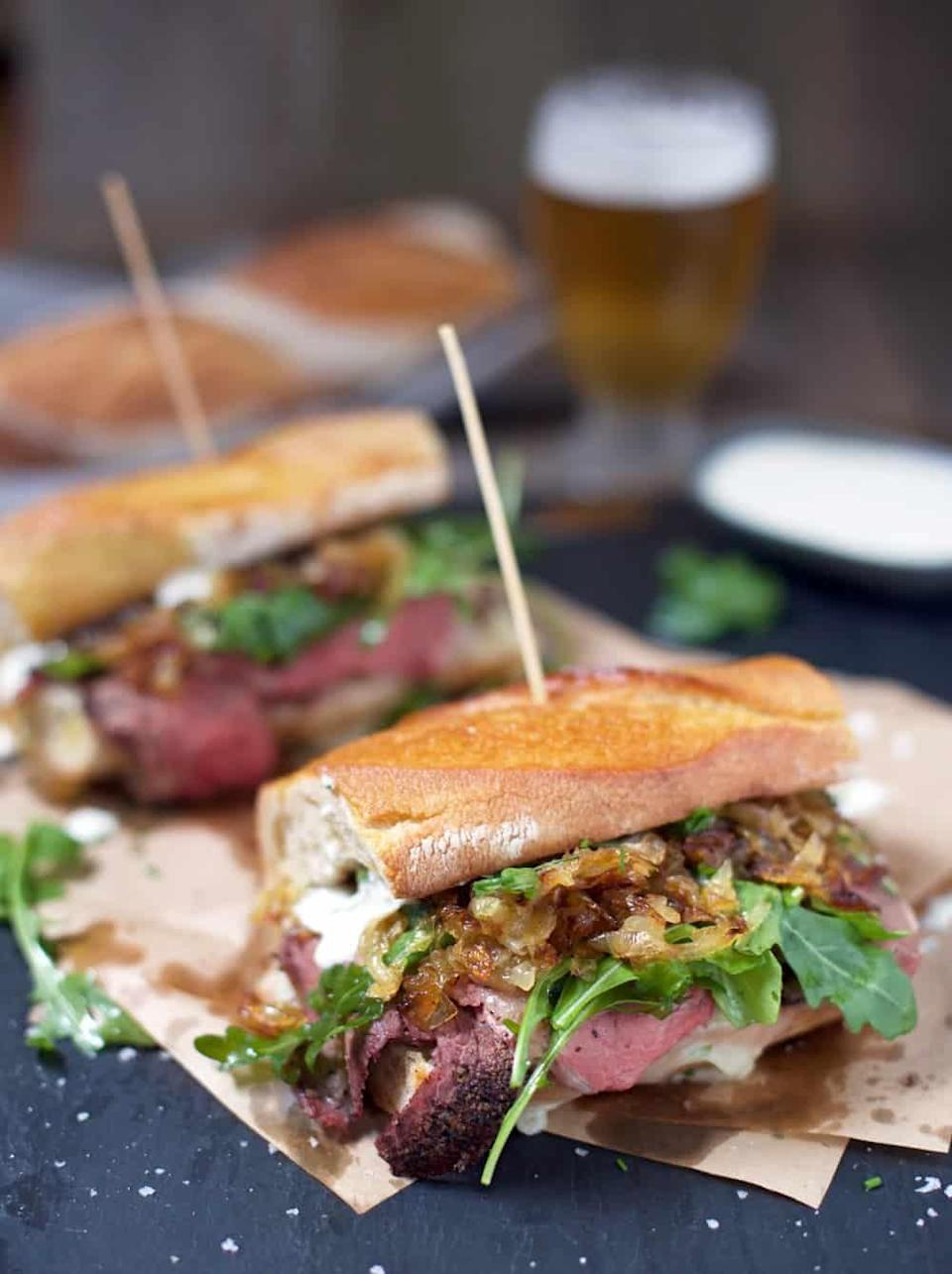"""<p>Do you serve your prime rib with a horseradish cream sauce? You can also re-use that as the spread for this slammin' sandwich. </p><p>Get the recipe from <a href=""""https://www.vindulge.com/prime-rib-steak-sandwiches/"""" rel=""""nofollow noopener"""" target=""""_blank"""" data-ylk=""""slk:Vindulge"""" class=""""link rapid-noclick-resp"""">Vindulge</a>. </p>"""