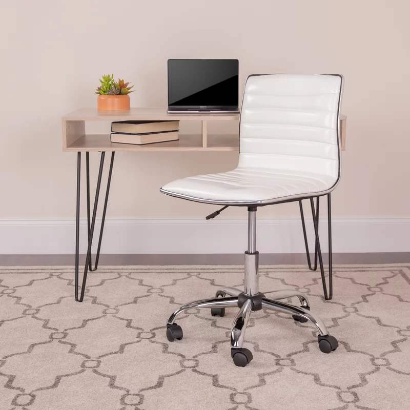 """<h2>Thomaston Basics Vinyl Task Chair</h2><br><strong>Best For: Budgets</strong><br>This contemporary desk chair is pretty straightforward in terms of streamlined style, but it still packs adjustable capabilities from wheels to a swivel seat and height all for just over $100 buckeroos.<br><br><strong>The Hype: </strong>4.8 out of 5 stars and 18 reviews on <a href=""""https://www.wayfair.com/furniture/pdp/orren-ellis-thomaston-vinyl-task-chair-w000977779.html"""" rel=""""nofollow noopener"""" target=""""_blank"""" data-ylk=""""slk:Wayfair"""" class=""""link rapid-noclick-resp"""">Wayfair</a><br><br><strong>Comfy Butts Say:</strong> """"Love this chair. Very comfortable to work in all day and it is very sturdy. I would say for a larger person, this may be too small. My husband would need a bigger chair, but just perfect for me. The whole body of the chair is padded and the wheels are very smooth.""""<br><br><strong>Orren Ellis</strong> Thomaston Vinyl Task Chair, $, available at <a href=""""https://go.skimresources.com/?id=30283X879131&url=https%3A%2F%2Fwww.wayfair.com%2Ffurniture%2Fpdp%2Forren-ellis-thomaston-vinyl-task-chair-w000977779.html"""" rel=""""nofollow noopener"""" target=""""_blank"""" data-ylk=""""slk:Wayfair"""" class=""""link rapid-noclick-resp"""">Wayfair</a>"""