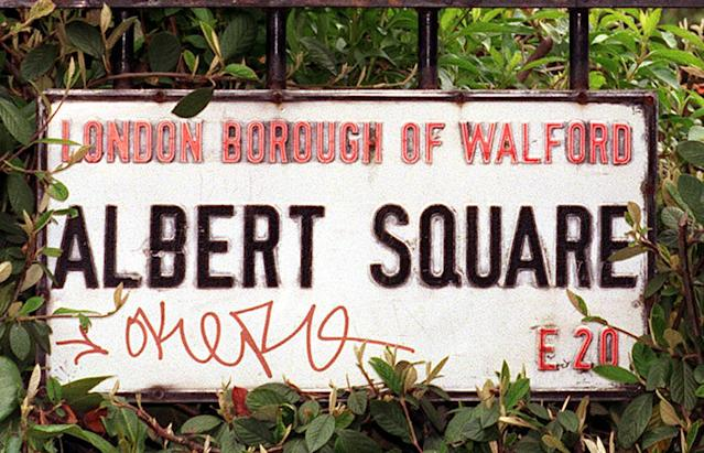 A sign for Albert Square