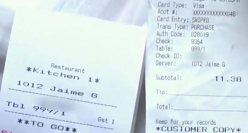The receipt Nyjah Vest was given with the N-word on it.