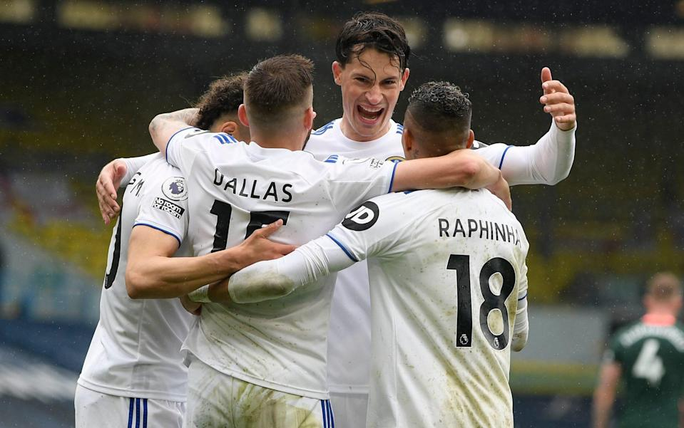 Leeds' climbed into the top half with an impressive performance - GETTY IMAGES