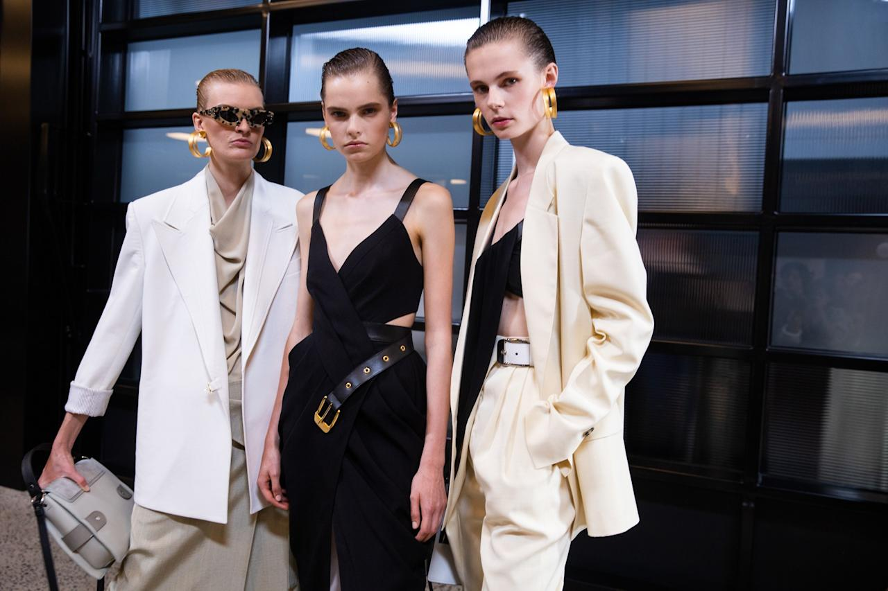 Backstage at the Proenza Schouler SS20 show during New York Fashion Week on Tuesday, September 10th, 2019. Photograph by Hatnim Lee for W Magazine.