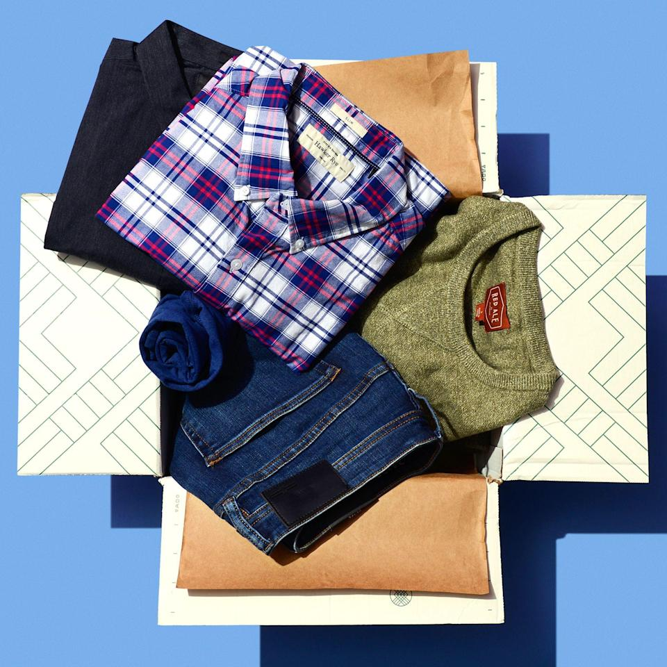 """<p><strong>Stitch Fix</strong></p><p>stitchfix.com</p><p><strong>$3.00</strong></p><p><a href=""""https://go.redirectingat.com?id=74968X1596630&url=https%3A%2F%2Fwww.stitchfix.com%2Fgifts%23ways_to_gift&sref=https%3A%2F%2Fwww.bestproducts.com%2Flifestyle%2Fg32259359%2Flast-minute-fathers-day-gifts%2F"""" rel=""""nofollow noopener"""" target=""""_blank"""" data-ylk=""""slk:Shop Now"""" class=""""link rapid-noclick-resp"""">Shop Now</a></p><p>Upgrade Dad's style into the 21st century with a clothing-subscription service that'll hook him up with hand-selected clothes based on his measurements and lifestyle. It's perfect for the guy who can't stand spending hours at the mall!</p><p><strong>More: </strong><a href=""""https://www.bestproducts.com/mens-style/g805/best-gift-ideas-for-him/"""" rel=""""nofollow noopener"""" target=""""_blank"""" data-ylk=""""slk:Great Gifts for Him for Any Occasion"""" class=""""link rapid-noclick-resp"""">Great Gifts for Him for Any Occasion</a></p>"""