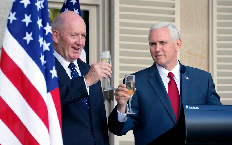 Mike Pence and Governor General Peter Cosgrove - Credit: Jason Reed /Reuters