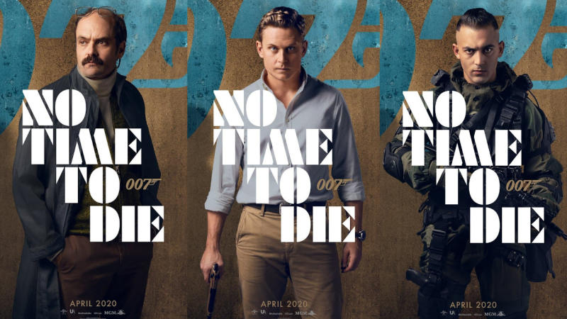 Character posters for David Dencik, Billy Magnussen and Dali Benssalah in James Bond adventure 'No Time to Die'. (Credit: Eon/Universal)