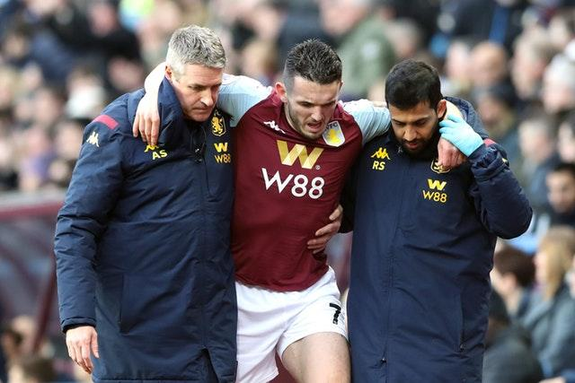 John McGinn: Aston Villa midfielder out for three months with fractured ankle