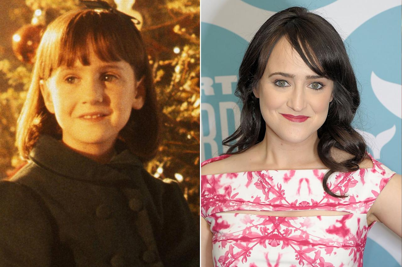 "Wilson was only 7 years old when she brought wise-beyond-her-years charm to the 1994 remake. She went on to score starring roles in <i>Matilda</i> and <i>A Simple Wish</i> before stepping away from the Hollywood life and earning a degree from NYU's Tisch School of the Arts. Her memoir, <a href=""http://people.com/celebrity/mara-wilson-why-mrs-doubtfire-star-quit-hollywood-over-scrutiny-of-her-looks/""><i>Where Am I Now? True Stories of Girlhood and Accidental Fame</i></a>, hit shelves in 2016. In November 2017, she spoke out against the sexualization of young Hollywood stars in a <a href=""http://people.com/movies/matilda-star-mara-wilson-slams-sexualization-of-young-girls-in-hollywood/"">powerful essay for <em>Elle</em></a>."