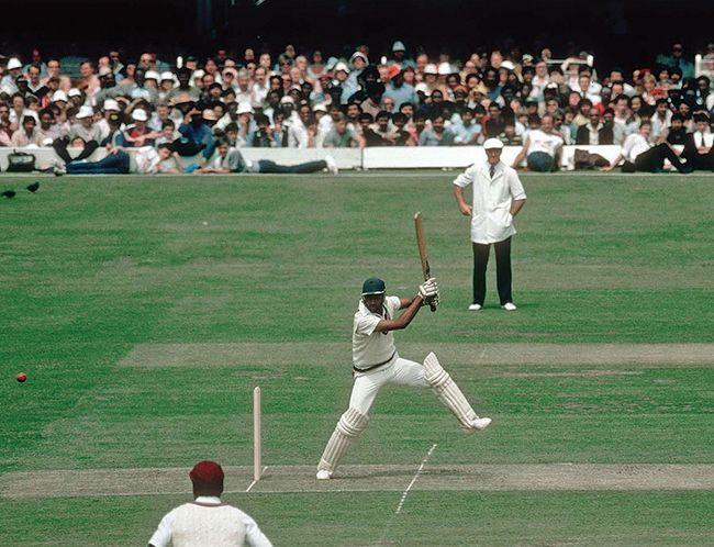 Mohinder Amarnath - batting against West Indies in the 1983 World Cup final