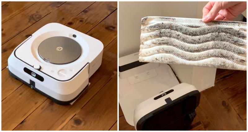 iRobot Braava jet m6 pictured during a review
