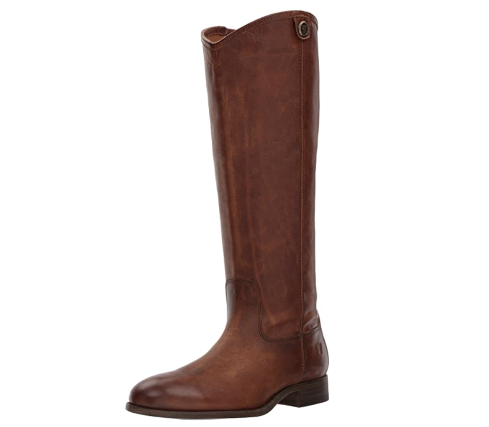 """<p><strong>Frye</strong></p><p>amazon.com</p><p><strong>$249.00</strong></p><p><a href=""""https://www.amazon.com/dp/B06W51L74L?tag=syn-yahoo-20&ascsubtag=%5Bartid%7C10055.g.36292464%5Bsrc%7Cyahoo-us"""" rel=""""nofollow noopener"""" target=""""_blank"""" data-ylk=""""slk:Shop Now"""" class=""""link rapid-noclick-resp"""">Shop Now</a></p><p>Riding boots are a closet staple as they can be styled up and down for every season. Frye leather boots are<strong> an investment that's sure to</strong> <strong>last through heavy wear.</strong> Available in an impressive 13 different leather options, these boots have over 1,000 reviews on Amazon too. </p>"""