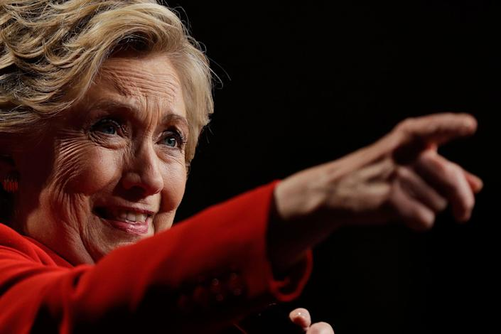 <p>Hillary Clinton speaks to supporters after the first presidential debate with Republican presidential candidate Donald Trump, in Westbury, N.Y., Monday, Sept. 26, 2016. (AP Photo/Matt Rourke) </p>