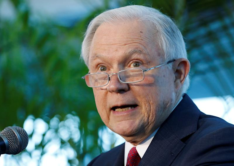 The current Justice Department, led by Attorney General Jeff Sessions, is far less interested in women. (Joe Skipper/Reuters)
