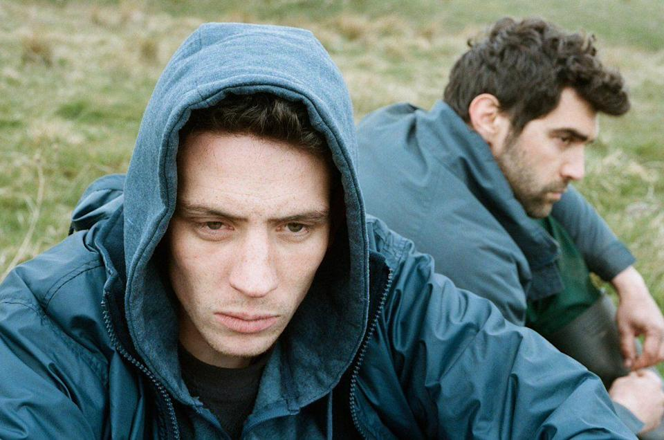 """<p>A British farmer drowns his discomfort with himself in booze, until a Romanian migrant worker comes to assist with lambing season. They discover an attraction to each other, and both learn about real emotion. It's an Indie darling with just as much romantic panache as any blockbuster. </p><p><a class=""""link rapid-noclick-resp"""" href=""""https://www.amazon.com/Gods-Own-Country-Josh-OConnor/dp/B076424XPM?tag=syn-yahoo-20&ascsubtag=%5Bartid%7C10055.g.27886652%5Bsrc%7Cyahoo-us"""" rel=""""nofollow noopener"""" target=""""_blank"""" data-ylk=""""slk:STREAM NOW"""">STREAM NOW</a></p>"""