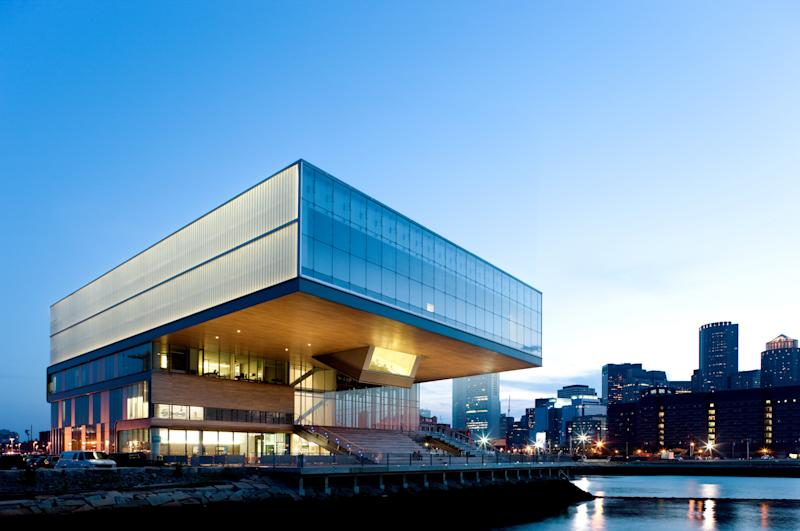 Boston's Institute of Contemporary Art, completed in 2006, features a dramatic, cantilevered form.