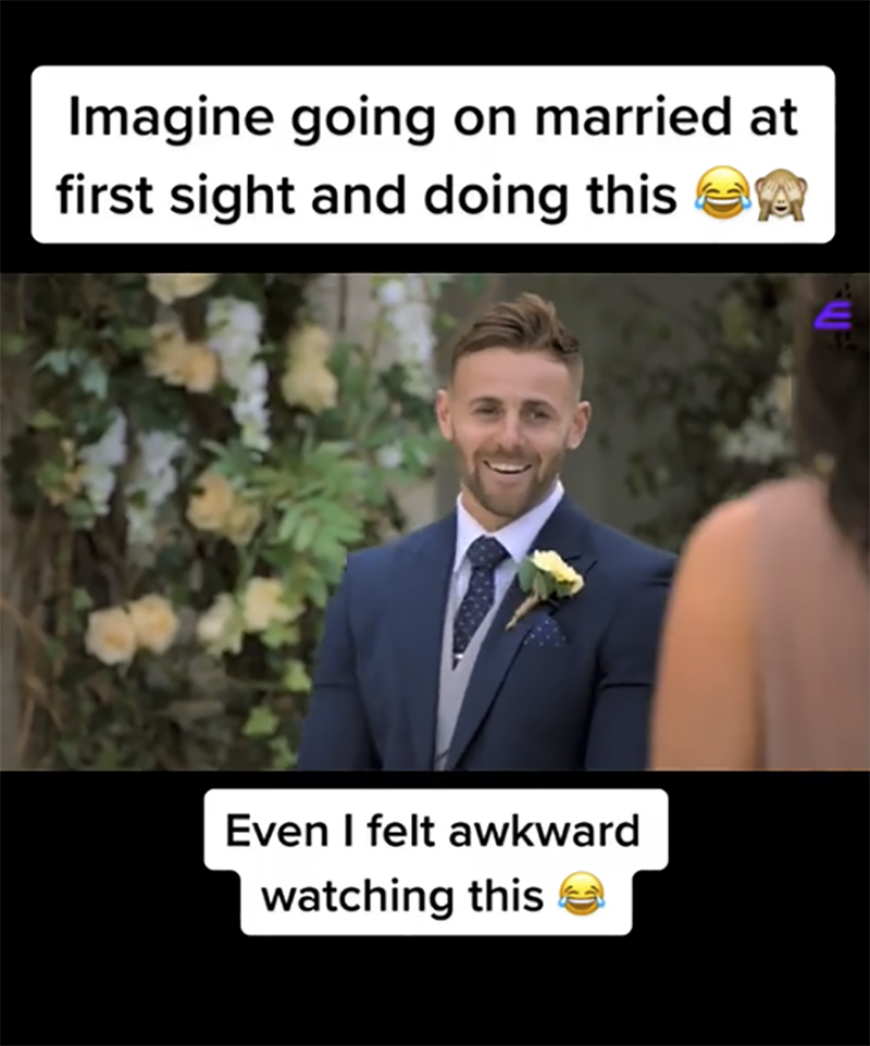 A hilariously awkward Married At First Sight UK fail is going viral online with some calling it 'TV gold'. Photo: Channel 4