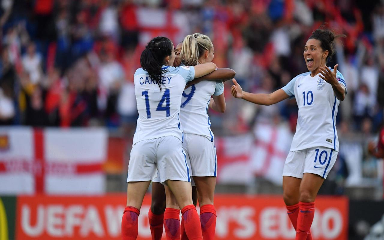 "France have already started to taunt England ahead of their quarter-final clash, even though the Lionesses warmed up for Sunday's meeting by making it three wins out of three with victory over Portugal. When France manager Olivier Echouafni declared England ""did not want to face us"" in the last eight of the European Championships, he knew exactly what he was doing. England have not beaten France since 1974, so why not play on their insecurities. Echouafni went on to add that ""nothing would stop"" his players from progressing into the semi-finals, which is about as dismissive as you can be about the threat England pose. The fuse was lit. ""He's wet around the ears when it comes to tournament football,"" retorted England manager Mark Sampson. What is it? Played three, won one. My record is played 11, won 9. He'll learn who to take on or not to. Duggan said after the game that she's chasing Jodie Taylor's goal tally Credit: AFP ""We're an experienced team, I'm an experienced manager. The game isn't played in the press conference room, lucky for them. We have three wins under our belt, France have one win under their belt. ""We go into the knockout phase with momentum and we know we've got more to give. We will work out a way to beat France. Congratulations to them for finishing second in their group. We finished top. ""It's a great challenge to play France because we want to win this tournament by beating all the best teams. We are fully aware of what they will bring. We're confident."" England will argue they are a far better team than they were when France beat them 3-0 in this tournament four years ago, but Echouafni will point out his team also beat them 2-1 in March. England made 10 changes for the win over Portugal Credit: AFP Such is the confidence within the camp, England will still believe they are good enough to reach the latter stages of the tournament. France, though, are their bogey team. It sets up a fascinating tussle for a place in the semi-final. As hard as they might have tried to fix their gaze on Portugal, it was impossible for England not to have one eye on the quarter-final, hence the ten changes to the starting line-up from the side that beat Spain. That helps explain why England looked disjointed, although they still took the lead thanks to a gift from the Portuguese. Goalkeeper Patricia Morais had plenty of time to clear a back pass, but inexplicably scuffed it straight at Toni Duggan., who chipped a shot back over her head. It was a fine way for Duggan to mark her 50th cap. Duggan capitalised on a mistake by Patricia Morais Credit: PA That should have put England in control, but they switched off and Portugal were level minutes later. Sampson was unhappy about the studs up tackle by Melissa Antunes on Isobel Christiansen – with good reason – but when the ball broke to Portugal's star play, Claudia Neto, she produced a sublime reverse pass to spring open England's back four. Diana Silva was on to it quickly and although her first cross was cut out by Laura Bassett, her second left Carolina Mendes with a tap in. It was the first goal England had conceded in this tournament and Portugal almost had a second before half time when another cross from Silva was just too far in front of Mendes. Carolina Mendes scored Portugal's goal Credit: GETTY IMAGES England will have been disappointed with their first 45 minutes, but they were back in front at the start of the second half, Nikita Parris charging her way through the middle of the Portugal defence before poking the ball through the legs of Morais. The goal settled England. Portugal, who only needed a draw to reach the quarter-finals, after Scotland surprisingly beat Spain, began to struggle as time and the game slipped away from them. A free kick from Dolores Silva had Siobhan Chamberlain scrambling across goal, but it dropped wide. ""We were the lowest ranked team in the tournament so I cannot say I'm disappointed with the girls,"" said Portugal manager Francisco Neto. ""England are one of the best teams in the world but we deserved at least a draw."" £250,000 up for grabs: pick your Telegraph Fantasy Football team today >> 9:37PM And it's all over for Scotland It's Switzerland all over again for Scotland, who needed to beat Spain by two goals and only did it by one. So close yet very far for the Scots, who will undoubtedly improve on their first ever international tournament.  9:35PM FULL TIME That's it! England win the group with a 100 per cent record in the group stages. Superb stuff from the Lionesses. 9:34PM 90 mins +2 - Portugal 1 - 2 England Or can they? This could be Portugal's last big chance. They have a free-kick near the halfway line, the goalkeeper wants to go up but isn't allowed, the ball is delivered into the area, it drops in a sea of bodies... and is cleared away for a throw-in.  They get it back in... and there's a chance to shoot! But it's straight at the keeper! 9:33PM 90 mins - Portugal 1 - 2 England Portugal just need one goal! One goal takes them through to the knock-out stages... but they can't get close.  9:29PM 88 mins - Portugal 1 - 2 England Diana Silva, who has probably been Portugal's best player, is off and Laura Luis comes on. Portugal have three minutes to claw an equaliser back from somewhere - they're hardly been on England's side of the pitch in this half. 9:25PM 85 mins - Portugal 1 - 2 England Credit: GETTY IMAGES  That's a lovely photo of the Portugal goal from the first half. England are slowing things down now, just trying to see the game out. 9:24PM 83 mins - Portugal 1 - 2 England Morais in the Portugal goal is really struggling with that muscle problem in her leg. Every time she goes to clear the ball she pulls up wincing, visibly in pain.  The @Lionesses re-take the lead through Nikita Parris pic.twitter.com/FyS9j6xJ74— Eurosport UK (@Eurosport_UK) July 27, 2017  Duggan's game is up. She's off to have a sit down on the sub's bench. 9:22PM 80 mins - Portugal 1 - 2 England Duggan just slightly mistimes her jump in the box and can't quite connect with a cross sent into the area. Unlucky.  9:17PM 77 mins - Portugal 1 - 2 England It takes Potter three attempts to to stop Diana Silva getting past her on the Portugal right wing but eventually she manages. Portugal have a throw, England win it back and the break is on! Duggan takes it forward, looks for a teammate and slows down play, looking to link the passes in the Portugal half. Play is stopped as Antunes picks up a knock. She's OK to continue. 9:15PM 74 mins - Portugal 1 - 2 England England could do with regaining some of that earlier composure. Too many long balls being hit forward at the moment. 9:12PM 71 mins - Portugal 1 - 2 England Nobbs is lucky not to receive a booking as she is late and wide to a tackle on Neto, taking the forward down 25 yards from goal. This is a great opportunity for Portugal - Dolores Silva stands over it. And it's wide. Silva get the ball over the wall, it curls around but finishes a good couple of yards wide of the post.  Carney has just kicked the back of Silva's legs while trying to win the ball back and Portugal are not happy about it.  9:08PM 68 mins - Portugal 1 - 2 England Tight offside call. This time it goes against Portugal as Silva is judged to have gone too early to run onto a through-ball. Replays seem to shot otherwise but as we all know, being a linesman/fourth official is really difficult. 9:05PM 65 mins - Portugal 1 - 2 England The goalscorer comes off. Mendes is replaced by Leite. Can Portugal get back into this one? 9:04PM 63 mins Ana Leite is about to come on for Portugal and it seems like the goalkeeper, Patricia Morais is OK to continue, though we have had a couple of minutes of stoppage for the medical team to have a look at her. 9:01PM 60 mins - Portugal 1 - 2 England The Portugal goalkeeper has asked for some treatment, pulling up after clearing the ball away. She might have tweaked a muscle somewhere. Jordan Nobbs is on for Millie Bright, the only player to start the previous two games in the tournament. 8:58PM 57 mins - Portugal 1 - 2 England England have a corner and Portugal are scrappily trying to get the ball away. They're blocking shots and clearing their lines but England just keep coming back at them. It feels like a third goal is on its way... 8:56PM 54 mins - Portugal 1 - 2 England Credit: GETTY IMAGES England have Portugal on the back foot at the moment, working the ball aroud the final third well. Parris wins a free-kick wide left with a clever turn. 8:53PM 51 mins - Portugal 1 - 2 England So that goal means that if Scotland get another, they go through. Can England add to their lead? They're looking for more - Parris has done more with the ball in the last five minutes than she did in the entire first half.  8:51PM GOOOOOAAAAAAALLLLLLLL Portugal 1 - 2 (Parris 48') England Aaaaand England have their lead back! Parris bundles her way through about three challenges and is one-on-one with the goalkeeper. It's great determination by the striker but one of those Portuguese defenders should have either dealt with the danger or taken Parris out of the game. Really well taken finish. 8:46PM KICK-OFF 2 We're back! 8:33PM Action shot of Duggan's goal Credit: PA   8:32PM HALF TIME That's it for the first 45 minutes!  8:29PM 43 mins - Portugal 1 - 1 England In other news, Scotland have taken the lead against Spain! If they can get one more... they're through! As long as England win.  8:26PM 40 mins - Portugal 1 - 1 England Duggan is dropping deeper and deeper to try and get involved with the play. She's probably bored having hardly had it - the few times she has the pass has had to go backwards. That finish though... #FINISHpic.twitter.com/xmioxkcxOD— Darren Bent (@DarrenBent) July 27, 2017   8:23PM 37 mins - Portugal 1 - 1 England Parris does a sombrero on one defender but runs into trouble straight after. England regain possession and build from the back, Bright hits a Hollywood pass to switch the play... Portugal are making the pitch narrow and it's difficult for England to create anything at the moment.  8:21PM 34 mins - Portugal 1 - 1 England Credit: AFP That's Mendes celebrating her equaliser. The crowd's pretty dead at the moment but some valiant performers are attempting a rendition of ""football's coming home"". It's more of an audience than a football crowd at the moment.  8:18PM 32 mins - Portugal 1 - 1 England England have a free-kick about 25 yards out and are going to cross it into the box. Greenwood curls it around the first defender and into the danger area - it's a great delivery - and Bright runs in at the back post just unable to stab it home to give England the lead.  8:14PM 29 mins - Portugal 1 - 1 England And it's yellow for Christiansen as she barges a midfielder to the floor. Portugal are ""growing into the game"", says Eniola Aluko, and I'd be inclined to agree. They can actually pass it now, with the nerves of the opening 25 minutes dissolving into the Dutch sky. 8:12PM 26 mins - Portugal 1 - 1 England Parris tries to keep the ball in the corner but it doesn't work. England win possession shortly after anyway and have Portugal pinned back again.  Neto tries to bring the ball out but overruns it for a throw-in, but makes up for sit shortly after by bursting away from Greenwood who lunges in with a sliding tackle and is nowhere near winning the ball. The ball comes in from the right again but this time the defence is positioned well and blocks the pass. 8:09PM 23 mins - Portugal 1 - 1 England Portugal are threatening again and it's the same duo who scored earlier working together. Mendes makes a smart run at the back post and Silva spots it from wide right, sending a whipped cross into the box. She's inches away from making connection with her head and England survive. 8:07PM 20 mins - Portugal 1 - 1 England No more goals yet but I have stumbled across this photo of the tragic moment a referee realised she was trapped for all eternity inside the goal. Credit: GETTY Later she realised there were more walls.  Incidentally, there should have been a foul in the build-up to that goal. Quite an aggressive tackle on the defender by the Portugese player... but no whistle was blown and England should have played to that whistle. 8:05PM GOOOOOAAAAALLLLLL! Portugal 1 (Mendes 17') - 1 England There is hope for Portugal! Sloppy defending from England, they switch off as Portugal force their way through and from a wide position drill a pass into the six yard box for Carolina Mendes to punt into an empty net! 7:59PM 13 mins - Portugal 0 - 1 England Portugal manage to keep hold of the ball for a while and get into England's half... and have now given it away again. England put the ball out wide, Scott tries an ambitious early ball into the final third but gives it straight to a defender, Portugal have it back.  Williams brings it out for England... but Parris loses possession far too easily in the final third. 7:56PM 10 mins - Portugal 0 - 1 England England have a bit of buzz about them. They know they can have a good go at this Portugal defence and everybody wants a goal.  7:54PM GOOOOOAAAAAAALLLLLLL Portugal 0 - 1 (Duggan 7') England It's Duggan!  Dreadful play from Portugal. Oh god tihs is bad. The back pass is fine, the goalkeeper panics and hits a scuffed clearance straight into Duggan's leg. Duggan doesn't have to try particularly hard to control it because there's no power on the clearance, and she nips forward and chips the goalie from 20 yards. A decent finish into an empty net! 7:52PM 6 mins - Portugal 0 - 0 England Early yellow card for Farah Williams as she is 20 minutes late for a sliding tackle while chasing a player down the wing.  Silva puts the ball in the area from the free-kick... England clear but it's been overrun! And Portugal can't control the ball... and now England have it... and now Portugal have it. Really poor passing from both teams. 7:49PM 3 mins - Portugal 0 - 0 England England start on the attack. Parris fouls in the final third and Portugal win it back but they don't keep possession and England come back straight away. Someone in the crowd, who is either inebriated or putting on that football voice that people do, is singing ""there's only Demi Stokes"". Just her. Nobody joins in. 7:46PM KICK-OFF - Portugal 0 - 0 England After a crowd countdown, we're off! England start the game. 7:44PM The players are out The national anthems are done. It is time to listen to the official football song of the world:   7:39PM Here's the video An unusually brutal new addition to the genre, thishttps://t.co/Pcf2qpaSDN— Adam Hurrey (@FootballCliches) July 27, 2017  Terrific banter. Just great content. 7:34PM He's recovered After nearly drowning by standing up on a football pitch, Jenas composes himself to offer his opinion on the match. And they've been sprayed again! Clare Balding has taken an executive decision and is moving the presenting crew further down the pitch to avoid them all being soaked. 7:31PM Jermaine Jenas destroyed by a sprinkler Jenas has just been hosed in the face by a sprinkler live on air. 7:30PM The players earlier on Credit: PA  More than 800 England fans have arrived to watch tonight apparently. In case you were interested, and you should be, if England win tonight and Scotland beat Spain 2-0... Scotland also qualify. 7:16PM Duggan's 50th cap tonight LANDMARK!@toniduggan earns her 5️⃣0️⃣th @England cap tonight �� Here's the moment she received her match shirt from @ellsbells89: pic.twitter.com/MzpPLewtVX— Lionesses (@Lionesses) July 27, 2017   7:12PM Evenin' all Hello everyone, welcome to our liveblog covering tonight's big match. England are already through but still want a win. Mark Sampson is very keen to keep that 100 per cent record in tact and to do so, the rest of the squad are going to have to step up to the plate. England destroyed Scotland 6-0  :-( and Portugal beat Scotland 2-1... which means this one should be closer than the England vs Scotland game, but that England should win. OR DOES IT? Because this isn't England's first choice team. But equally, those players on the pitch tonight will be desperate to prove that they should start in the knock-out stages. It's a whole lotta fun, there are places to be won - it's a real wacky show where anything can go... FOOTBALL! That last bit is meant to be the final bit of the Fun House theme tune, in case it hasn't translated from my mind on to your digital screens. 6:36PM Starting lineup  England have changed things up tonight and rested several first teamers. Toni Duggan starts as expected. Here is your #Lionesses line-up for the final match in Group D. There are �� changes from the Spain game.@laurabassett6 is the skipper �� pic.twitter.com/OLRYBQUOIa— Lionesses (@Lionesses) July 27, 2017 England 4-2-3-1 Chamberlain; Greenwood, Bright, Bassett, Scott; Wailliams, Potter, Christiansen, Duggan, Carney; Parris Portugal (not in order of formation) Morais, Rebelo, Neto, Borges, Pinto, Dolores Silva, Carole Costa, Diana Silva, Mendes, Pires, Antunes 6:31PM Preview What is it? It's Portugal vs England! The final match in Group D in the women's Euro 2017 championships. The Lionesses are guaranteed to go through tonight unless they do something silly like concede eight goals to their opponents. So it should be fine. When is it? Thursday 27th July, which is also known as: tonight. Where is it? The game takes place in a place called Tilburg, which is in Holland. What time is kick-off?  Always the same - 7:45pm.   England's Fara Williams during a training session Credit: PA What TV channel is it on? Channel 4 and Eurosport but if you can't get to a TV you can also follow all the action here on our liveblog. Alternatively you could watch it on TV and read our analysis at the same time like some kind of action hero. What is the team news? Laura Bassett, who has been without a club since Notts County Ladies folded, is expected to play at centre-back this evening and says she's ""ready to go"". There's a chance that Mark Sampson gives starts to some of the players yet to feature, in order to rest his first choices. Toni Duggan could well benefit from this squad rotation. Lucy Bronze will definitely still be available for England, having revealed during the week that she turned down the opportunity to play for Portugal in her younger years. What are they saying? England manager Mark Sampson: ""We're 100% a team that is about improving and winning. We're demanding that England find a way to win this match against Portugal. ""The most important thing is to win but a clean sheet to nick the record is a nice little bonus. Credit: UEFA / GETTY IMAGES ""So far at this tournament we've got the biggest winning margin in European Championships, the first English woman to score a hat-trick at a major tournament (Jodie Taylor) and the quickest ever goal in a European Championship (Fran Kirby against Spain). ""Now we've got a bit more history to create."" What are the odds? Portugal - 12/1 Draw - 11/2 England 1/5 What's our prediction? England probably won't destroy Portugal in quite the same way they did Scotland, but this should still be comfortable victory for the Lionesses.  Portugal 1 - 3 England"