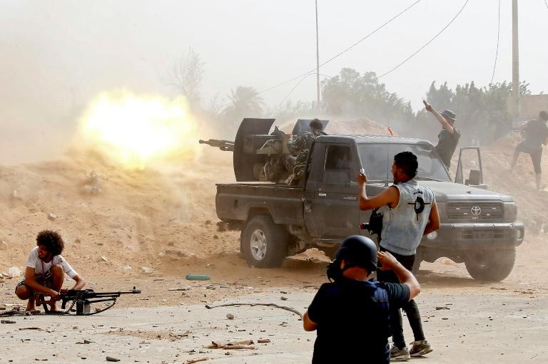 Forces loyal to Libya's UN-recognised government have been fighting to stop an offensive on the capital Tripoli launched in April by the self-styled Libyan National Army