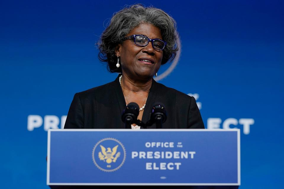 "Joe Biden's nominee to become U.S. ambassador to the United Nations, Linda Thomas-Greenfield, says that in her previous posts, she practiced ""gumbo diplomacy"" by inviting people of different backgrounds to partake in Cajun cuisine."