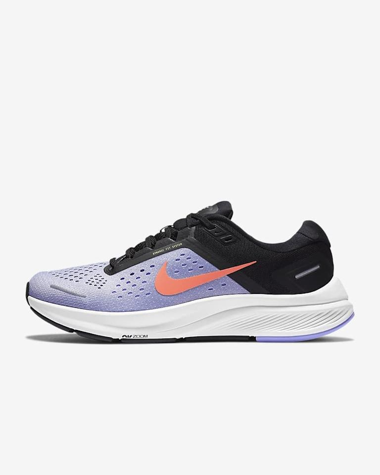 """<p>If you like a structured shoe, you're going to love these new <product href=""""https://www.nike.com/t/air-zoom-structure-23-womens-running-shoe-Z68gPf/CZ6721-500"""" target=""""_blank"""" class=""""ga-track"""" data-ga-category=""""internal click"""" data-ga-label=""""https://www.nike.com/t/air-zoom-structure-23-womens-running-shoe-Z68gPf/CZ6721-500"""" data-ga-action=""""body text link"""">Nike Air Zoom Structure 23</product> ($120) sneakers.</p>"""