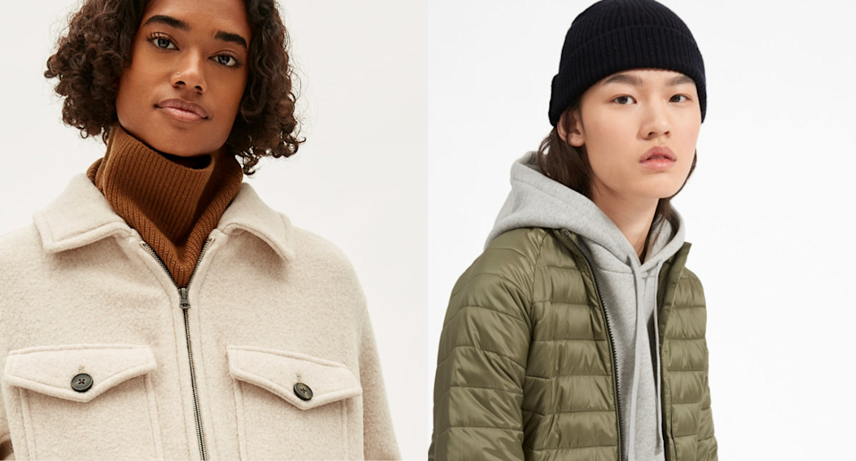 Everlane's End of Year sale is on now with discounts up to XX% off. Images via Everlane.