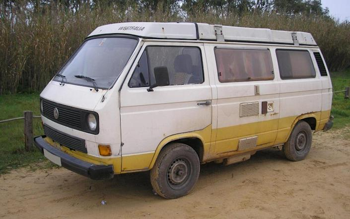 A photo issued by the Metropolitan Police of a VW T3 Westfalia campervan that has been linked to the suspect. - PA
