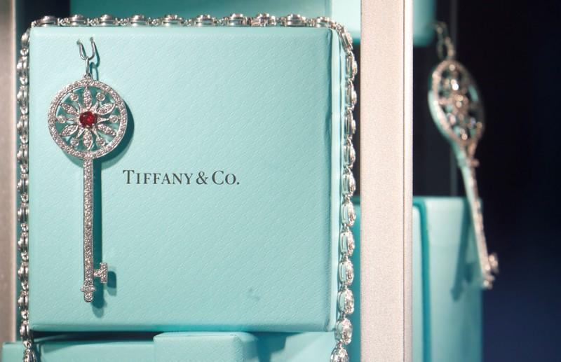 Tiffany & Co. jewelry is displayed in a store in Paris