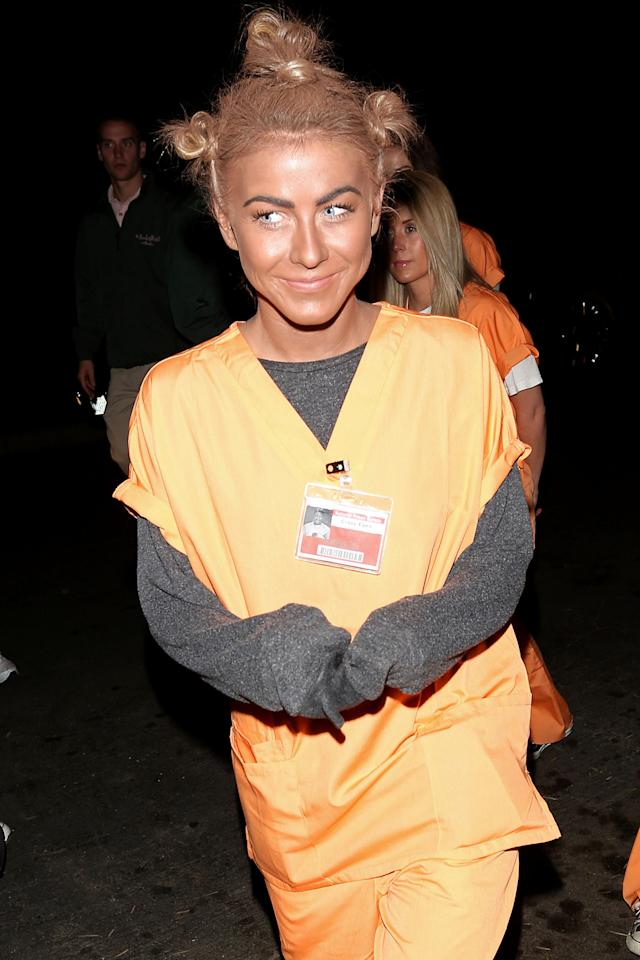 """<p>We shouldn't have to say it, but changing your skin color to that of another race is a big old no. Julianne Hough dressed as <em>Orange Is the New Black</em>'s Crazy Eyes in 2013 — complete with blackface. The dancer later apologized, saying, """"It certainly was never my intention to be disrespectful or demeaning to anyone in any way. I realize my costume hurt and offended people and I truly apologize."""" (Photo: Devone Byrd/PacificCoastNews) </p>"""