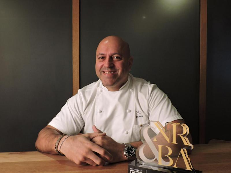 Sat Bains, the most famous chef in Nottingham, with two Michelin stars
