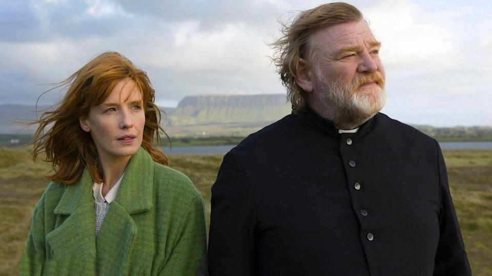 "<p>In the opening scene of <em>Calvary</em>, Father James (Brendan Gleeson) takes the confession of a man who reveals he had been sexually abused by a priest as a child. Now, that man plans to exact revenge on the church—by killing Father James. The movie then introduces Father James's parishioners and their various problems, which he helps them through.</p><p><a class=""link rapid-noclick-resp"" href=""https://www.amazon.com/gp/video/detail/amzn1.dv.gti.96a9f7aa-23d3-ed12-4eb3-cb69a94d7264?autoplay=1&ref_=atv_cf_strg_wb&tag=syn-yahoo-20&ascsubtag=%5Bartid%7C10072.g.35120185%5Bsrc%7Cyahoo-us"" rel=""nofollow noopener"" target=""_blank"" data-ylk=""slk:Watch Now"">Watch Now</a></p>"