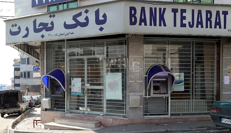 A branch of Iranian Bank Tejarat in Tehran on January 24, 2012