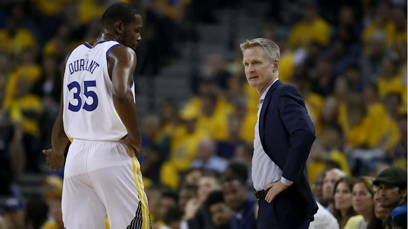 Durant needs to be more aggressive in playoffs - Kerr