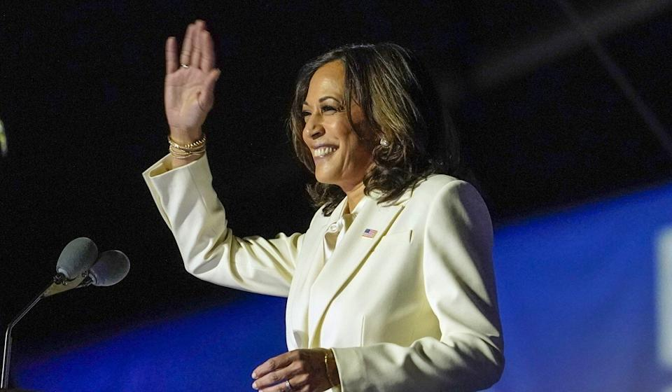 "US vice-president-elect Kamala Harris praised Joe Biden for his ""audacity"" in choosing a woman as his running mate. Photo: AP"