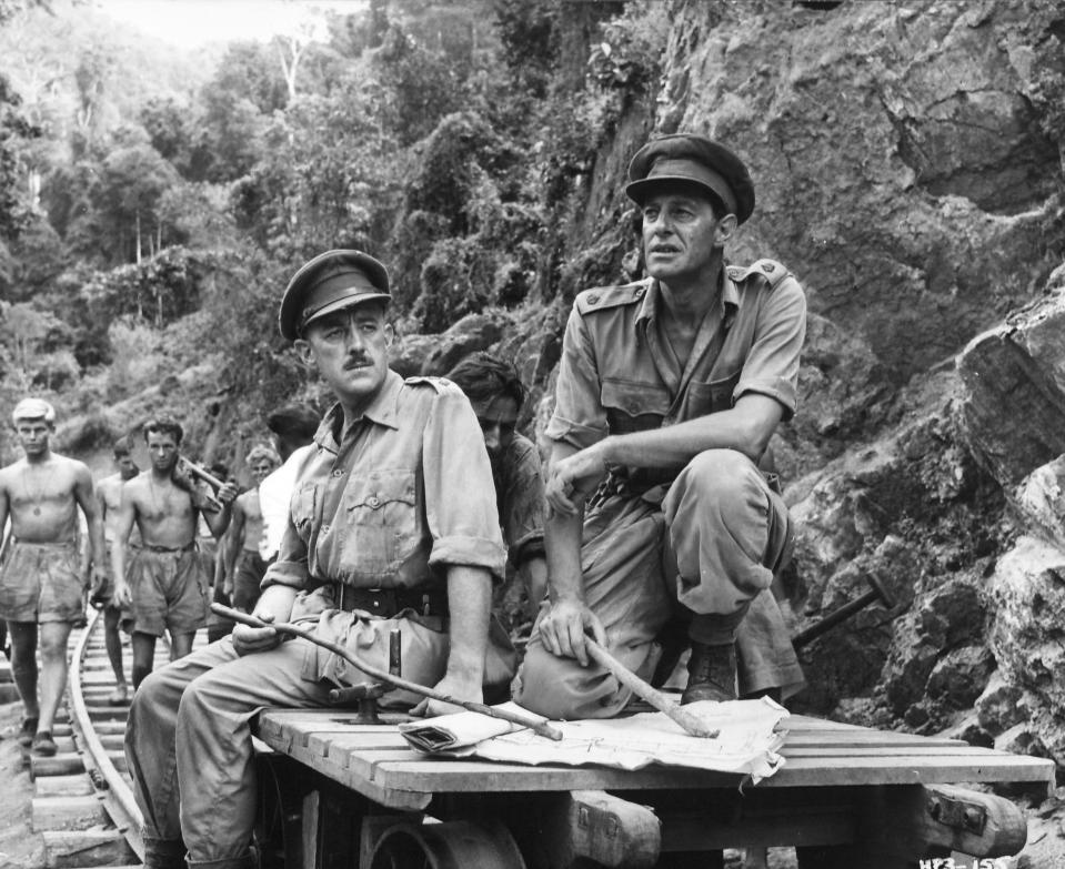 """Alec Guiness in """"The Bridge on the River Kwai"""" 1957   (Photo by RDB/ullstein bild via Getty Images)"""