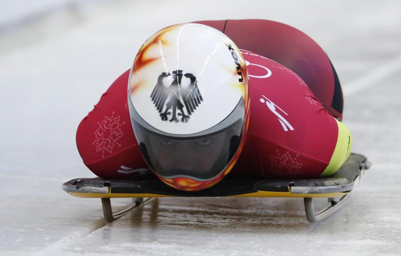 Yes, skeleton is slower than luge and here's why