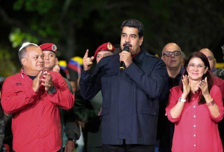 Venezuela's President Nicolas Maduro speaks during a meeting with government members after the announcement of the results of the nationwide election for new governors in Caracas