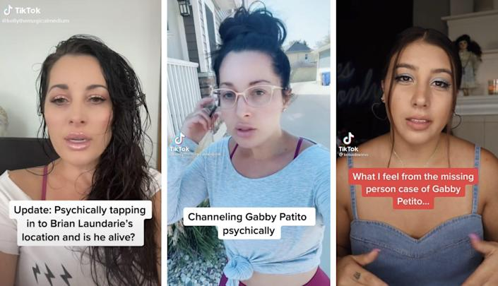 Self-proclaimed mediums Kelley Ferro and Kelsi Davies have posted TikTok readings about Gabby Petito.