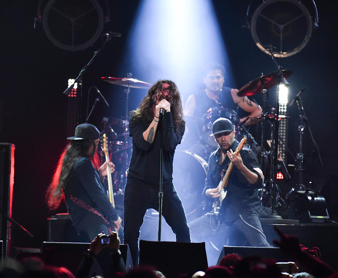 Foo Fighters, Miley Cyrus, Metallica and the surviving members of all of Chris Cornell's bands came together Wednesday to salute to late the late Soundgarden and Audioslave singer.
