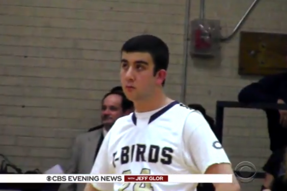 Mitchell Marcus during the basketball match (CBS News)