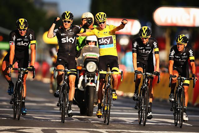 Team Sky has dominated cycling since it was founded in 2010. (Credit: Getty Images)
