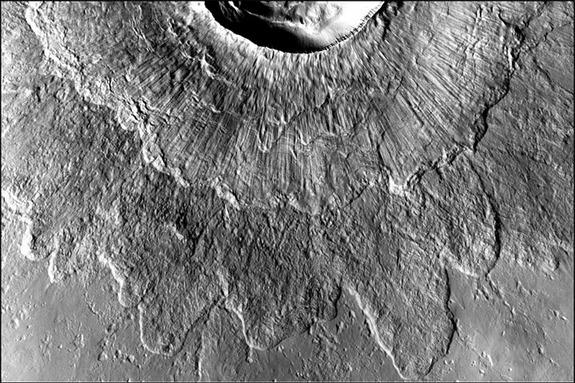 Mars Landslides Spawned By Weird Double-Layered Craters