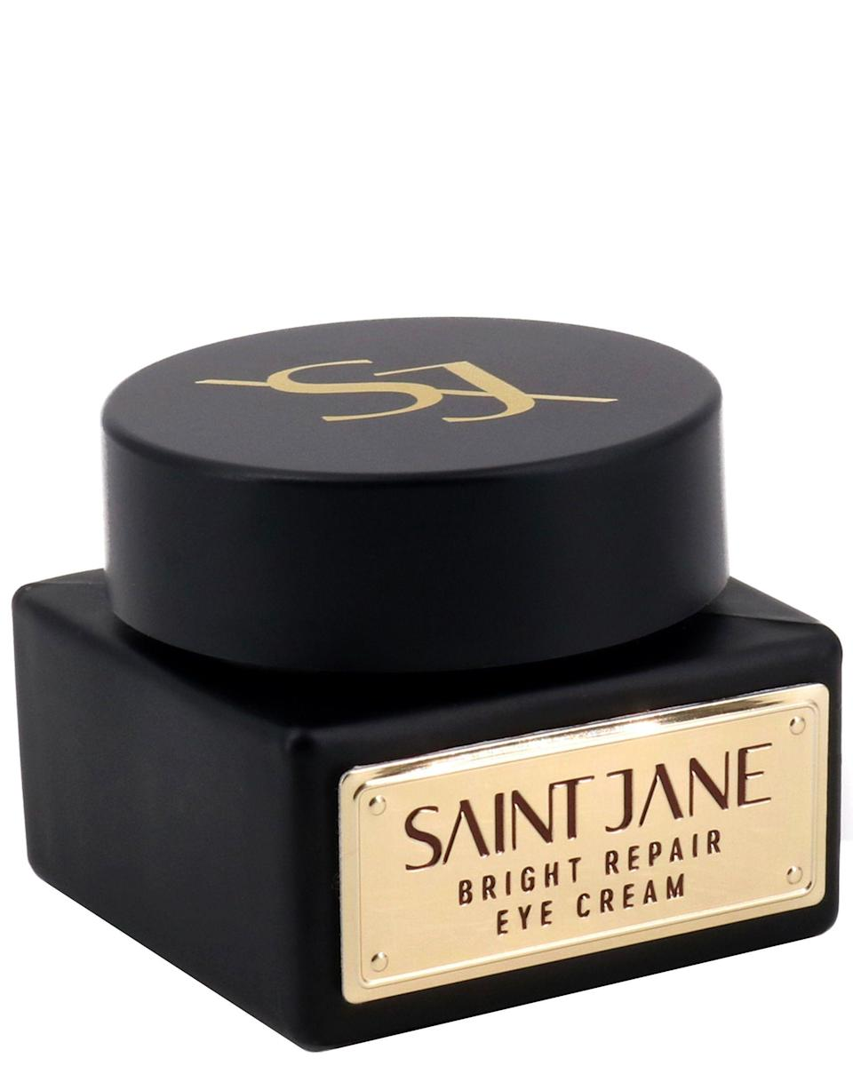 <h2>Saint Jane Bright Repair Eye Cream</h2><br>Vitamin C and CBD are the all-star team of this formula, which depuffs and brightens under your eyes at the same damn time. It's the double dose of powerful ingredients that'll yield youthrful, rested eyes in the end. <br><br><strong>Saint Jane</strong> Bright Repair Eye Cream, $, available at