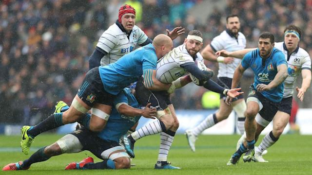 Scotland triumphed 29-0 over Italy to give themselves a chance of finishing second in the Six Nations.