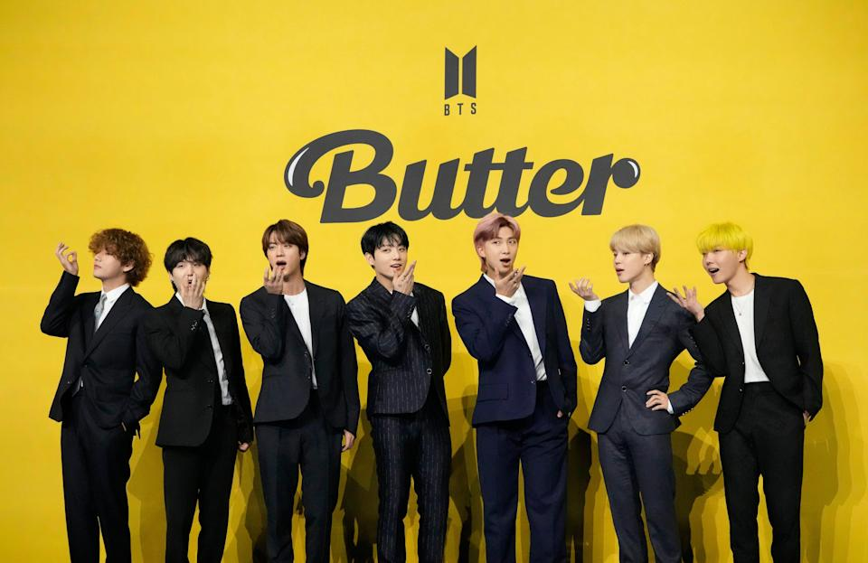 APTOPIX South Korea BTS Butter (Copyright 2021 The Associated Press. All rights reserved)