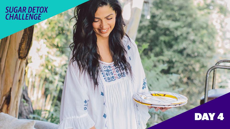 Camila Alves McConaughey curates a 5-day sugar detox challenge exclusive for Yahoo Life readers. (Photo: Ashley Burns)