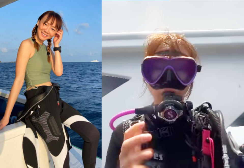 Singaporean actress Julie Tan on holiday in the Maldives in photos posted on Instagram on 6 September 2021.